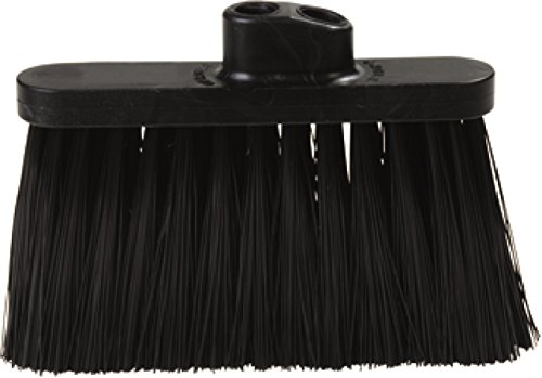 Carlisle 3685403 Flo-Pac Duo Sweep Stiff Filament Light Industrial Broom Head Polypropylene Bristles 11 Trim x 11 Width Bristle 7 Overall Length Black Pack of 12