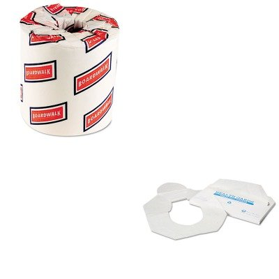 KITBWK6150HOSHG2500 - Value Kit - Hospeco Health Gards Toilet Seat Covers HOSHG2500 and Boardwalk 6150 Two-Ply Bathroom Tissue BWK6150