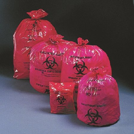McKesson 03-4400 Medi-Pak Saf-T-Seal Infectious Waste Bag 24 Width 24 Length Red 24 Width 24 Length Pack of 1000