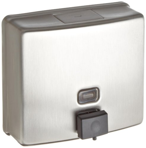 Bobrick 4112 ConturaSeries Surface-Mounted Soap Dispenser 40oz Stainless Steel Satin