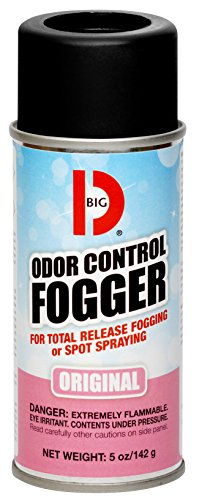 Big D 341 Odor Control Fogger Original Fragrance 5 oz Pack of 12 - Kills odors from fire flood decomposition skunk cigarettes musty smells - Ideal for use in cars property management hotels
