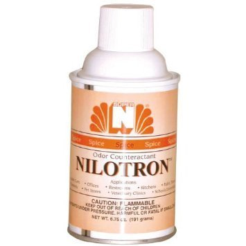 Nilodor Nilotron 7 oz Metered Aerosol Dispenser Refill Cans - Cinnamon Spice 12 CansCase