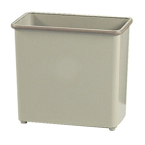 Safco Rectangular 27 12 Quart Office Wastebasket Sand Qty 3 Model 9616SA from ABC Office