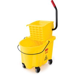 Rubbermaid 26-Quart Side Press Mop Bucket Wringer Combo Yellow
