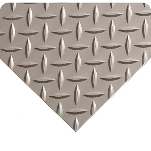 Diamond-Plate Military Switchboard 3 x 9 Gray Floor Mat