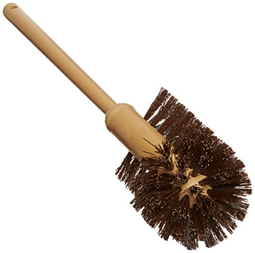 Rubbermaid 6320 17 Overall Length 1-12 Trim Length Brown Color Polypropylene Fill Toilet Bowl Brush with Plastic Handle