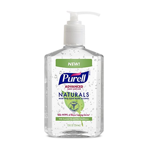PURELL Naturals Advanced Hand Sanitizer - Hand Sanitizer Gel with Essential Oils 12 fl oz Pump Bottle Pack of 2 - 9629-06-EC