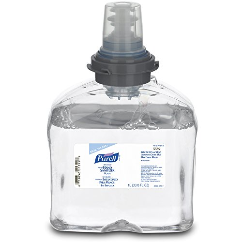 PURELL 5592-02 Advanced Instant Hand Sanitizer Foam 1000 mL TFX Refill Case of 2Clear