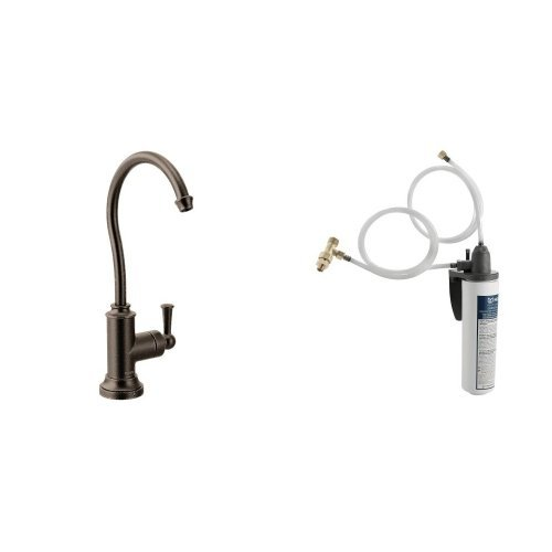 Moen S5510ORB-S5500 Sip Traditional One-Handle High Arc beverage Faucet with Valve Oil Rubbed Bronze