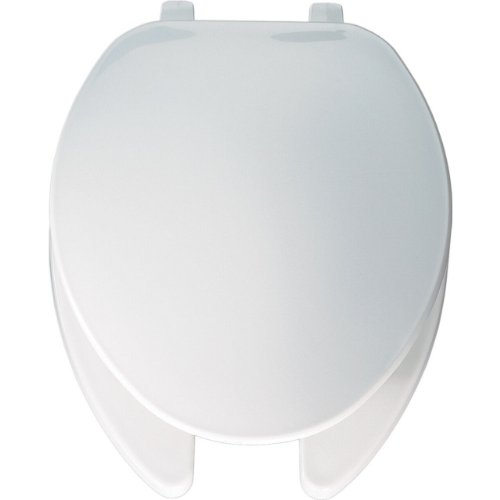 Bemis 175000 Economy Plastic Open Front with Cover Elongated Toilet Seat White