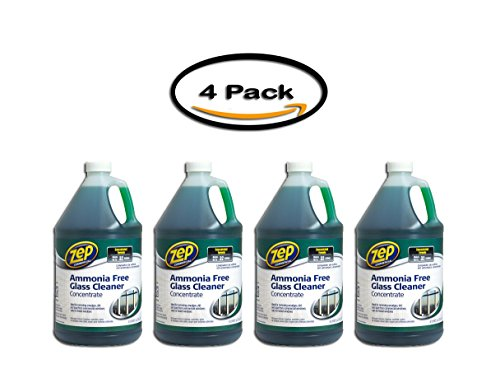 PACK OF 4 -Zep Commercial Ammonia-Free Glass Cleaner Concentrate 1 gal